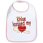 Khloe Lassoed My Heart Bib