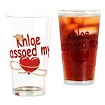 Khloe Lassoed My Heart Drinking Glass