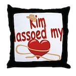 Kim Lassoed My Heart Throw Pillow