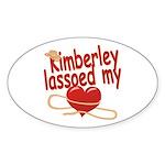 Kimberley Lassoed My Heart Sticker (Oval)