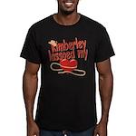 Kimberley Lassoed My Heart Men's Fitted T-Shirt (d