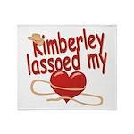Kimberley Lassoed My Heart Throw Blanket