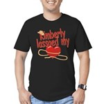 Kimberly Lassoed My Heart Men's Fitted T-Shirt (da