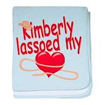 Kimberly Lassoed My Heart baby blanket
