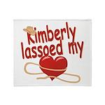 Kimberly Lassoed My Heart Throw Blanket