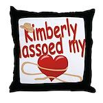 Kimberly Lassoed My Heart Throw Pillow