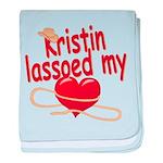 Kristin Lassoed My Heart baby blanket