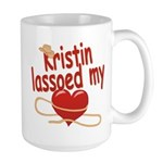 Kristin Lassoed My Heart Large Mug