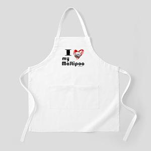 I Love my Maltipoo BBQ Apron