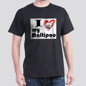 I Love my Maltipoo Black T-Shirt