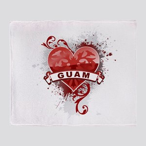 Heart Guam Throw Blanket