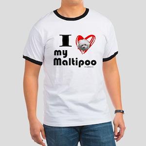 I Love my Maltipoo Ringer T