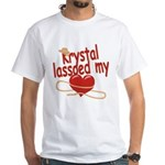 Krystal Lassoed My Heart White T-Shirt