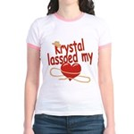 Krystal Lassoed My Heart Jr. Ringer T-Shirt