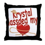 Krystal Lassoed My Heart Throw Pillow