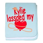 Kylie Lassoed My Heart baby blanket