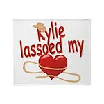 Kylie Lassoed My Heart Throw Blanket