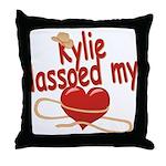 Kylie Lassoed My Heart Throw Pillow