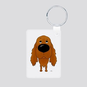 Big Nose Irish Setter Aluminum Photo Keychain