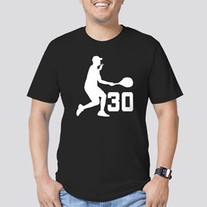 Tennis Uniform Number 30 Player Men's Fitted T-Shi