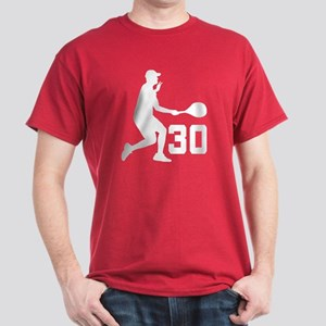Tennis Uniform Number 30 Player Dark T-Shirt