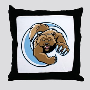 Wolverine Mascot Throw Pillow