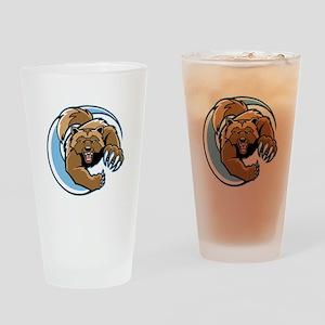 Wolverine Mascot Drinking Glass