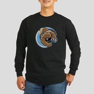 Wolverine Mascot Long Sleeve Dark T-Shirt
