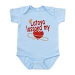 Latoya Lassoed My Heart Infant Bodysuit