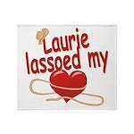 Laurie Lassoed My Heart Throw Blanket