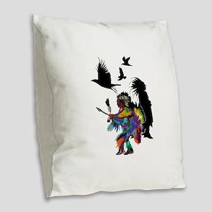 NATURAL TRIBUTE Burlap Throw Pillow