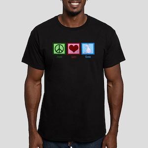 Peace Love Goats Men's Fitted T-Shirt (dark)