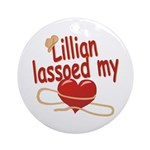 Lillian Lassoed My Heart Ornament (Round)