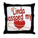 Linda Lassoed My Heart Throw Pillow