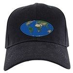 World Map Oval: Black Cap mollweide