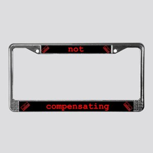 Not Compensating License Plate Frame