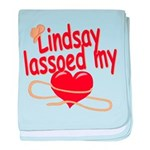 Lindsay Lassoed My Heart baby blanket