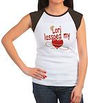 Lori Lassoed My Heart Women's Cap Sleeve T-Shirt