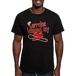 Lorraine Lassoed My Heart Men's Fitted T-Shirt (da