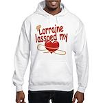 Lorraine Lassoed My Heart Hooded Sweatshirt