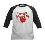 Lorraine Lassoed My Heart Kids Baseball Jersey