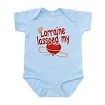 Lorraine Lassoed My Heart Infant Bodysuit