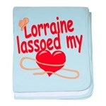Lorraine Lassoed My Heart baby blanket