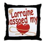 Lorraine Lassoed My Heart Throw Pillow