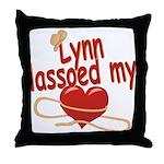 Lynn Lassoed My Heart Throw Pillow