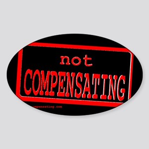 Not Compensating Oval Sticker
