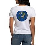 World Map Heart: Women's T-Shirt back