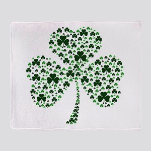 Irish Shamrocks Throw Blanket