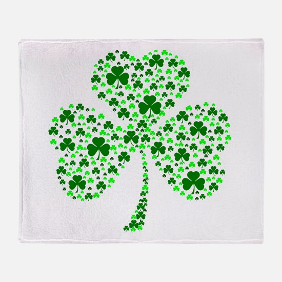 Irish Shamrocks Throw Blanket