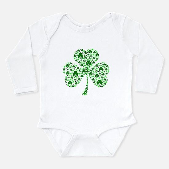 Irish Shamrocks Long Sleeve Infant Bodysuit